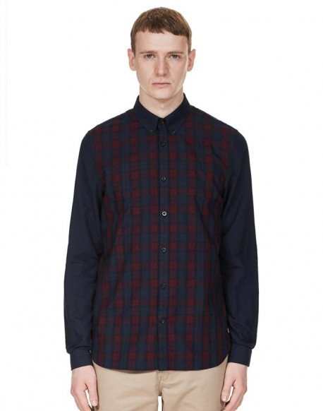 Fred Perry camisa marino con cuadros