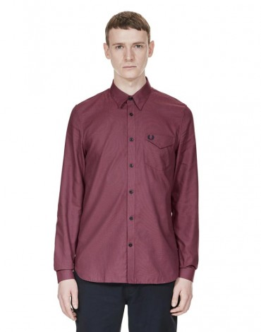 Fred Perry camisa burdeos