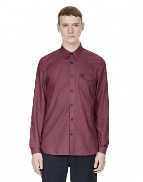 Fred Perry bicolor textured shirt