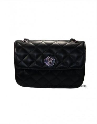 Teria Yabar bolso negro acolchado clutch
