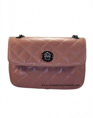 Teria Yabar bolso rosa acolchado clutch