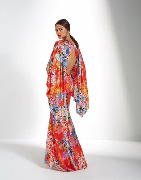 Matilde Cano kimono naranja estampado