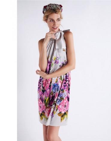 Matilde Cano vestido motivos florales
