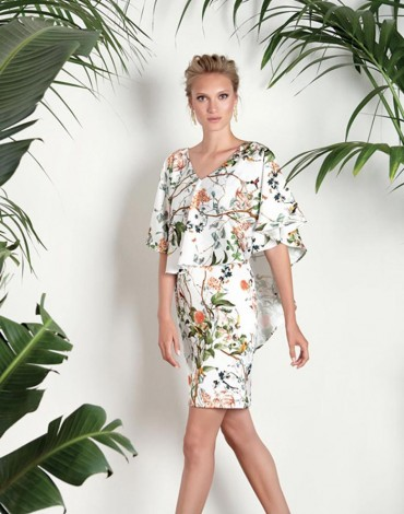 Matilde Cano dress floral patterns