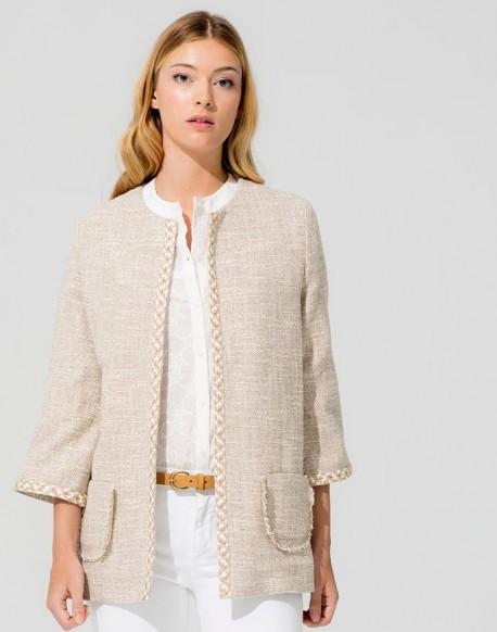 Vilagallo chaqueta abierta camel