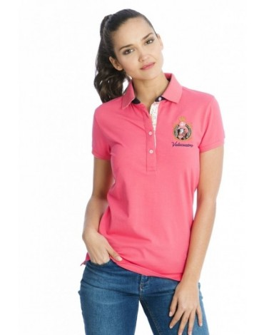 Valecuatro polo coral flores ladies