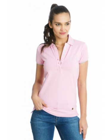 Valecuatro polo V4 ladies rosa