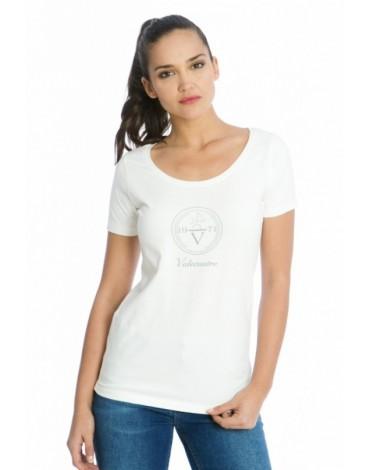 Valecuatro camiseta blanca V4 ladies