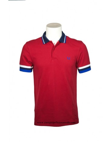 Fred Perry polo rojo vivos colores
