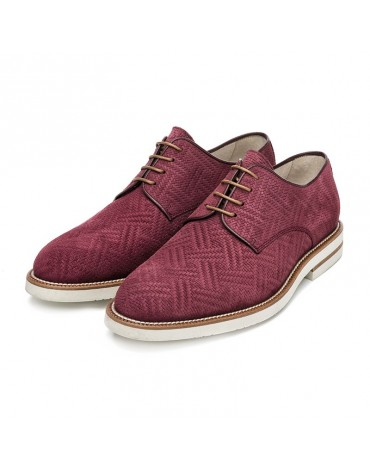 Chopo burgundy blucher shoes
