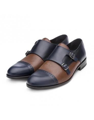 Sergio Serrano combined buckle shoes