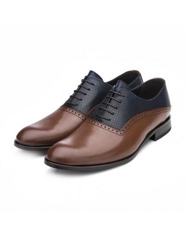 Sergio Serrano zapatos oxford combinado