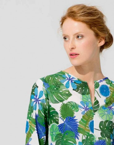 Vilagallo blusa print tropical