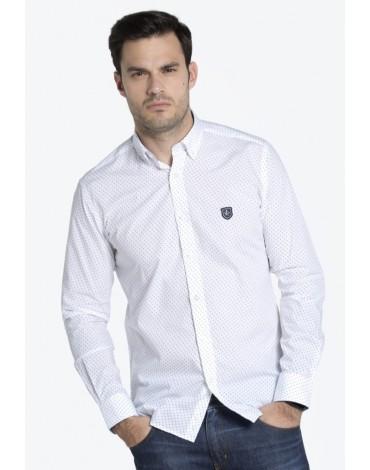 Valecuatro camisa blanca estampada