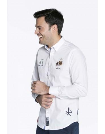 Valecuatro camisa España bordada blanco