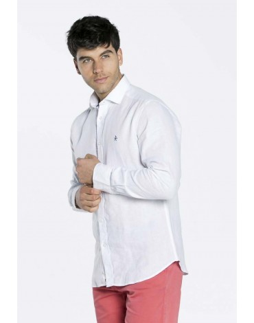 Valecuatro camisa blanca lino