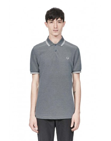 Fred Perry polo azul carbón manga corta
