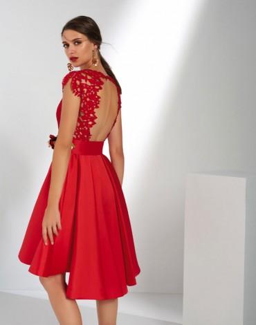 Matilde Cano vestido rojo