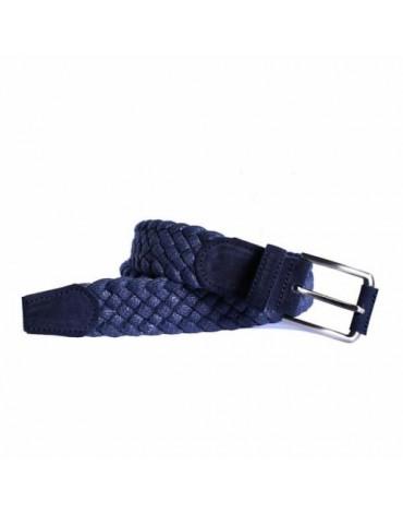 Possum cinturón trenzado azul marino