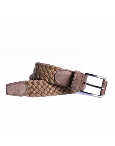 Possum cinturón trenzado moka