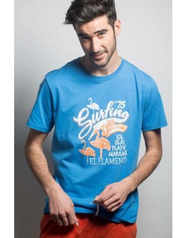 El Flamenco camiseta azul