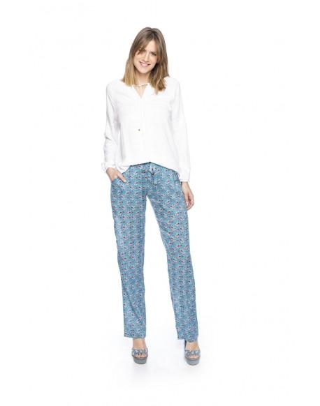 MdM blusa blanca bordada