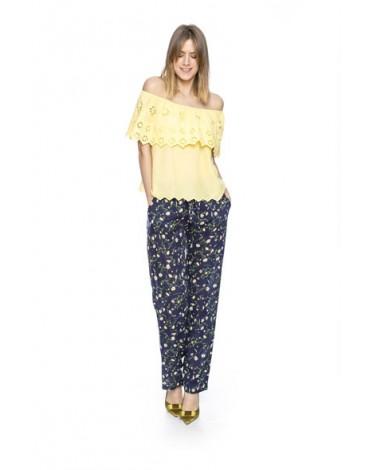 MdM yellow blouse ruffle
