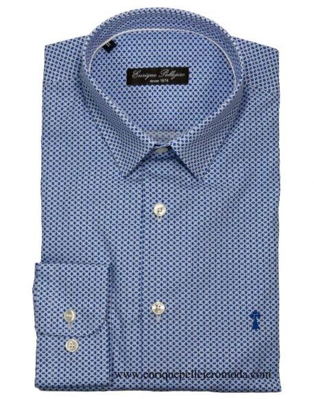 Camisa vestir azul dibujo Enrique Pellejero