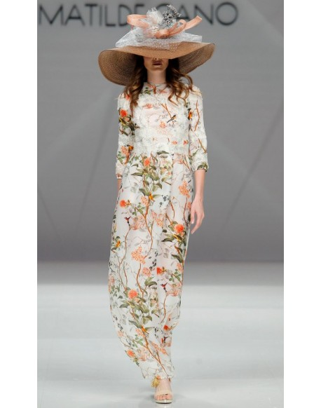 Matilde Cano printed long dress