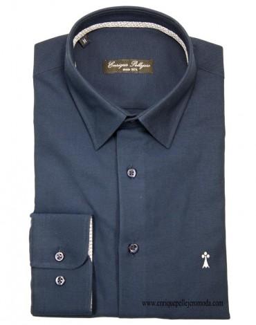 Camisa azul marino Enrique Pellejero