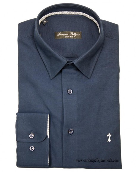 Navy blue shirt Enrique Pellejero