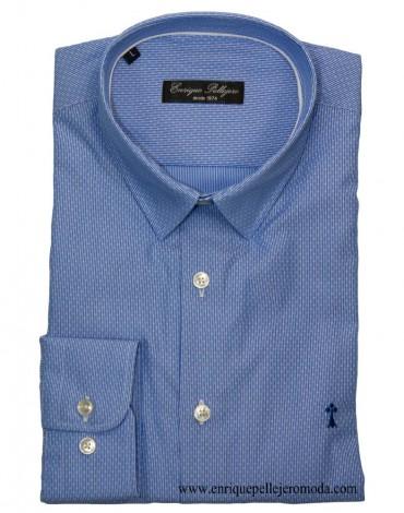 Camisa azul raya dibujo Enrique Pellejero