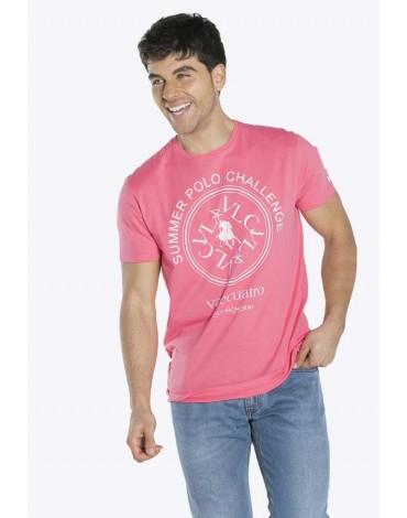 Valecuatro camiseta estampada coral