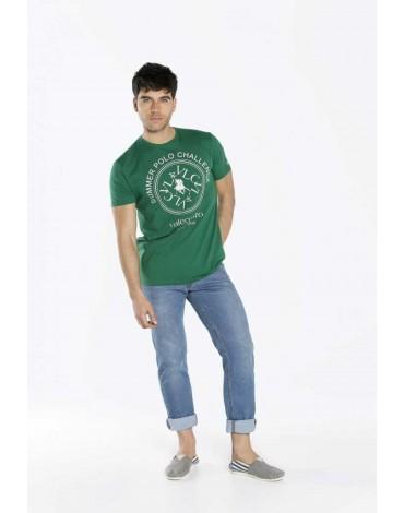 Valecuatro camiseta estampada verde