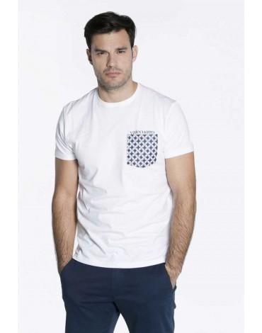 Valecuatro camiseta bolsillo blanco