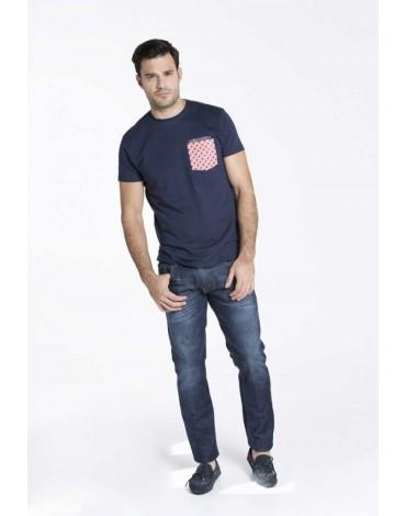 Valecuatro camiseta bolsillo azul marino
