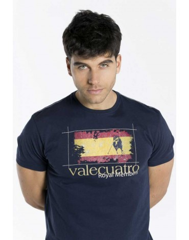Valecuatro camiseta España estampado azul marino