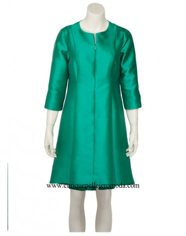 Laura Bernal vestido verde
