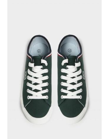 Valecuatro zapatillas lona verde