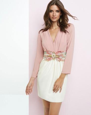 Matilde Cano vestido corto bicolor