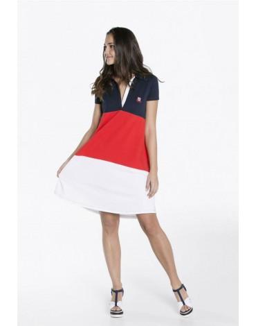 Valecuatro vestido piqué tricolor
