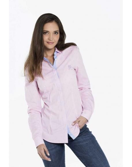 Valecuatro camisa mujer rosa ancla