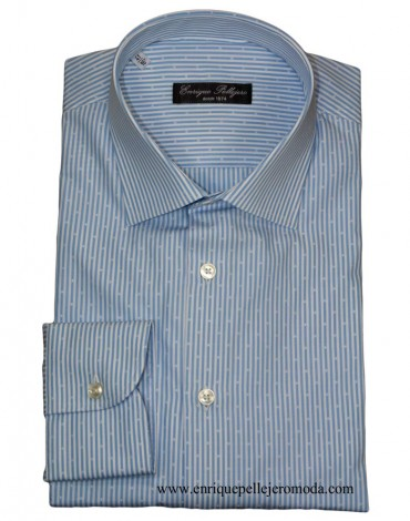 Camisa vestir celeste rayas Enrique Pellejero
