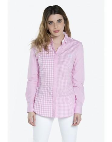 Valecuatro camisa vichy rosa