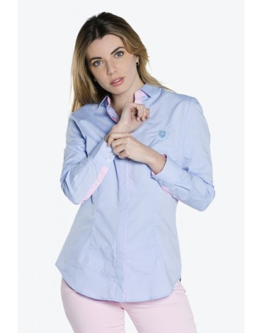 Valecuatro shirt woman blue anchor