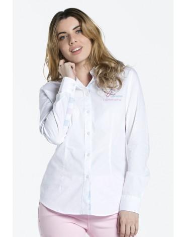 Valecuatro camisa bordada blanca