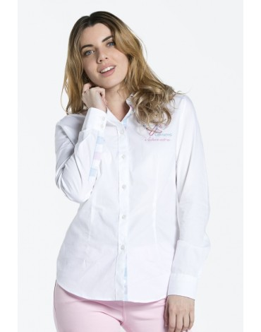 Valecuatro white embroidered shirt