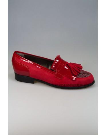 Daniela zapatos rojos borlas