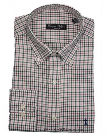 Camisa cuadros verdes Enrique Pellejero