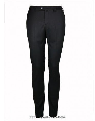 Pertegaz pantalón vestir gris oscuro dibujo